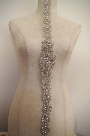 deluxe crystal applique craft bridal sash bridal belt supplies zp96