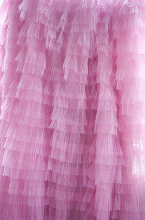 3D pink ruffle Fabric, pleated fabric, haute couture fabric, Photography Prop Backdrop, Wedding Decors, wedding prop, bridal dress