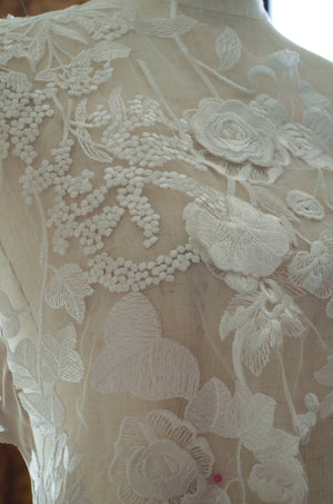 3D guipure Lace Applique,  embroidered bodice lace applique, lace bodice for bridal dress altering, bridal lace applique - lace era