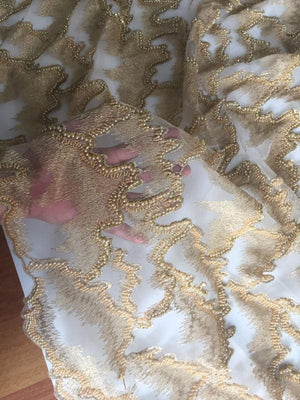 High end heavy beaded lace fabric, super delicate lace, beaded lace fabric, vintage bridal lace fabric, haute couture, for evening dress