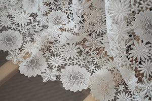 off white lace fabric with flowers, guipure lace fabric with florals, bridal lace fabric, 2018 new arrival for summer collection
