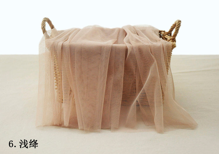 tan nude color tulle netting fabric, skin flesh color tulle for fashion couture - lace era