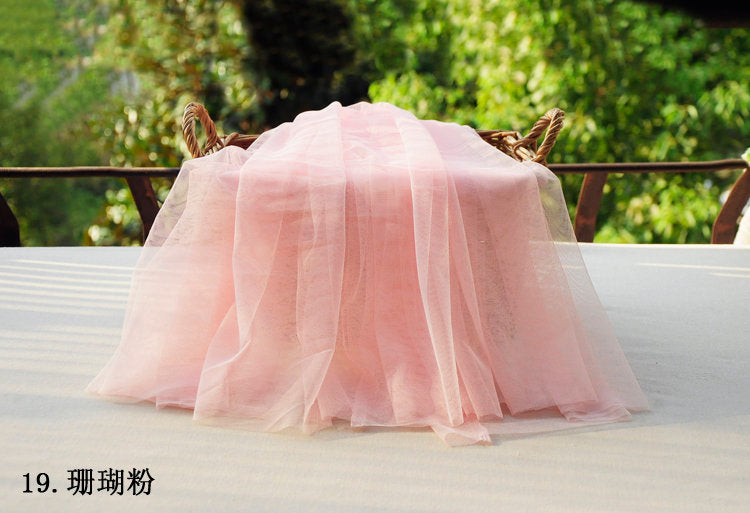 blush plain tulle fabric, soft tulle for dresses - lace era