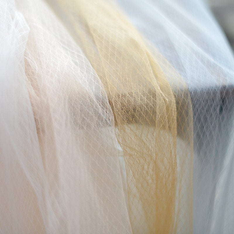 tulle Lace fabric with golden Diamond lattice, Embroidered tulle mesh lace fabric with checks - lace era