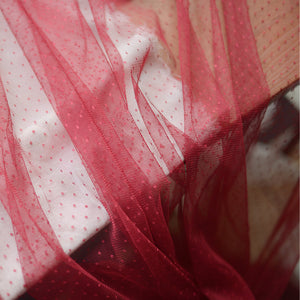 soft tulle Lace fabric with polka dots - lace era