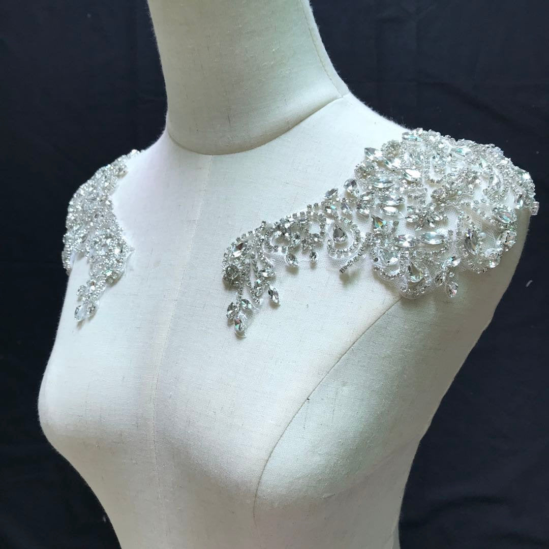 Deluxe bead florals applique for haute couture-ra208 - lace era