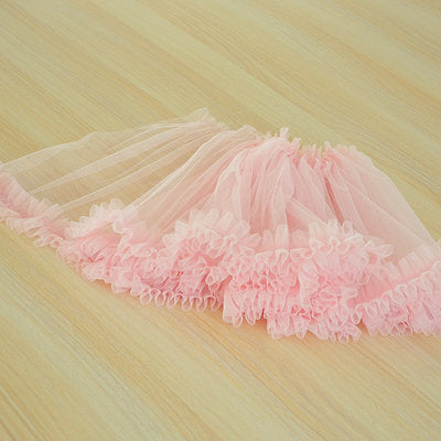 ruffled tulle fabric for tutu dress, tutu skirt ruffle, wide frill trim, pleated mesh trim for cake skirt, 11.8 inches, 16 colors - lace era