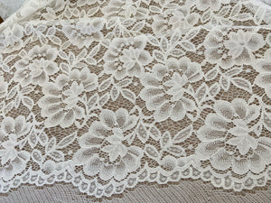 Ivory cord lace fabric, alencon lace fabric