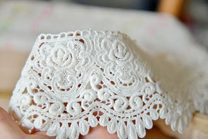 Cotton guipure Lace Trim with scallops by yards - lace era