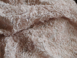 Nude Chiffon Rosette Fabrics, Baby Photography Backdrop, Prop, Blanket, Wedding Dress, Bridal Gown Fabric, Wedding Backdrop Deocrs ON SALE