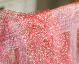 red and gold mesh fabric, silver tulle lace fabric