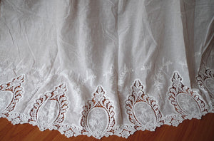 off white cotton eyelet lace fabric, hollowed out lace fabric, cotton lace fabric