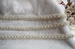 ivory pearl bead trim by the yard