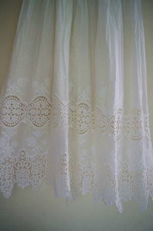 Cotton lace fabric with retro florals pattern, Eyelet lace fabric with solid pattern