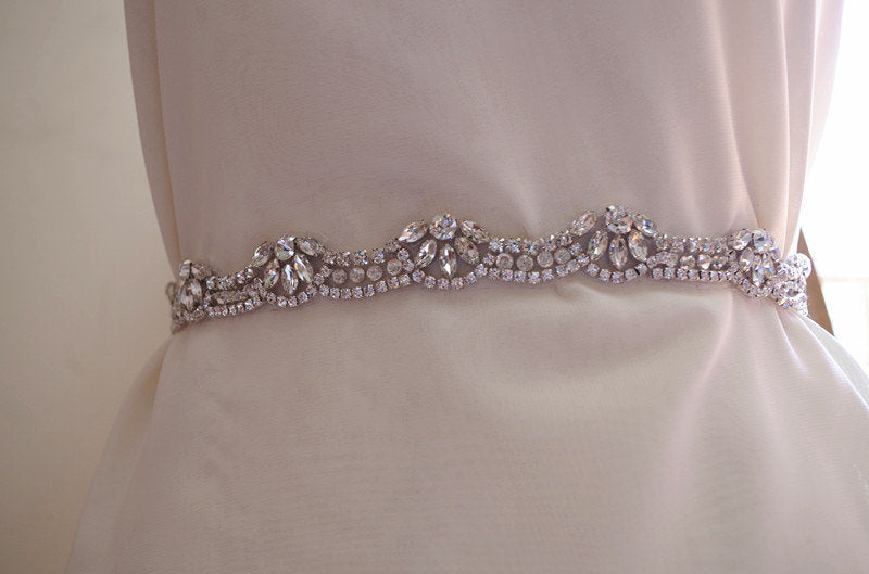 Bridal sash belt, delicate bridal sash trim, one yard