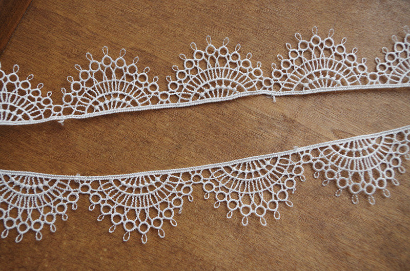 ivory lace trimming, venise lace trim