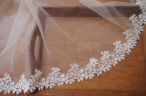 off white guipure lace trim, ivory lace trim, bridal lace trim with retro floral by the yard DG119