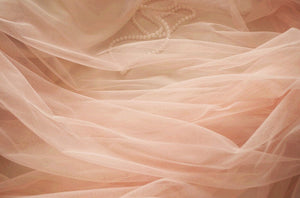 peach mesh Fabrics,  coral tulle fabric, Gauze fabric , wedding decors