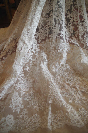 off white cord lace fabric for bridal gown -cord208 - lace era