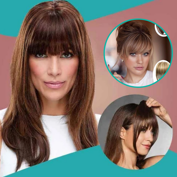 3D Clip-In Bangs Hair Extensions Women - URANIFY