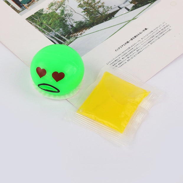 Squishy Puking Egg Yolk Stress Ball With Yellow Goop - URANIFY