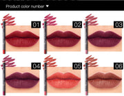 12 Colors Lip Liner Pencil Waterproof Non-Marking Beauty - URANIFY