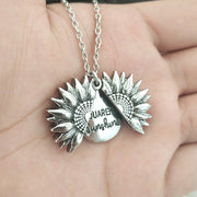 'You Are My Sunshine'' Sunflower Pendant Necklace - URANIFY