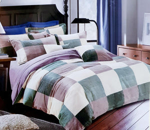 Super Soft & Breathable King Size Flannel Warm Bed Sheets |  Multi Colours - Finezz