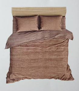 Premium Cotton Satin  Bedhseet 250 TC Super King With 2 Pillow covers (275 cms X 275 cms) Rust - Finezz