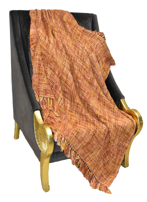 Finezz All Season Acrylic Throw | Soft, Cozy, Woven | 50