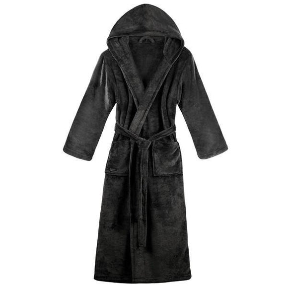 Luxurious Unisex Cotton Bathrobe /Spa Robe By Homzz | Grey - Finezz
