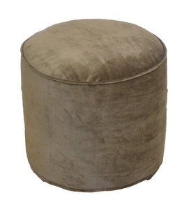 Pouf/Pouffe | Cotton Velvet | Pre-Assembled | Brown - Finezz