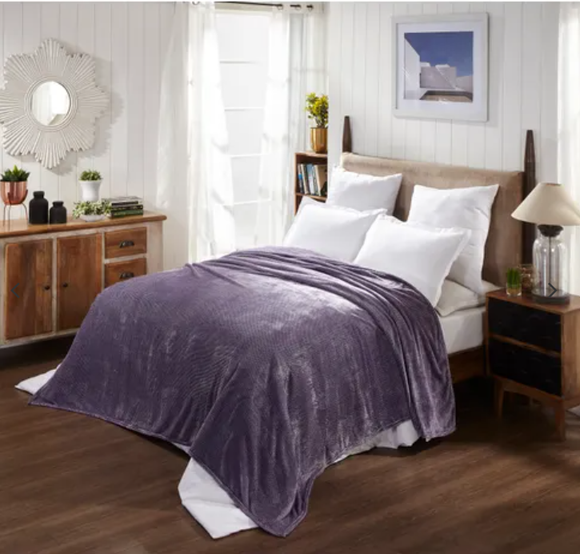Premium AC Comforter Flannel By Homzz | Double Bed | Mauve - Finezz