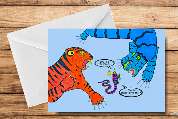 Funny Birthday Greeting Card by SUEX