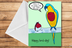 Happy Bird-day! Greeting Card by SUEX