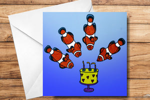 Birthday Fishes Greeting Card by SUEX