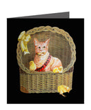Naughty Kitty Easter Greeting Card by SUEX