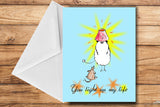 Strictly Come Prancing Greeting Card by SUEX