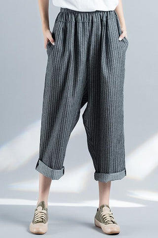 Vintage Stripe Loose Pants