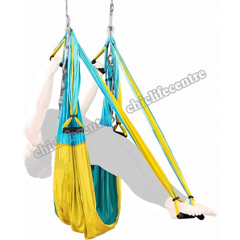 20 Color 2.5*1.5 M Aerial Yoga Hammock Anti-gravity Inversion Swing Trapeze Yoga Extend Belt Ceiling Hanging Tray for Home Gym