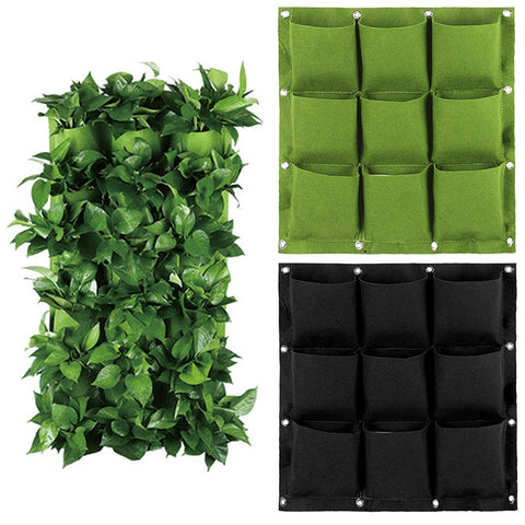 2/3/4/6/9 Pockets Wall Hanging Planting Bags Green Plant Grow Planter Vertical Garden Living Bag