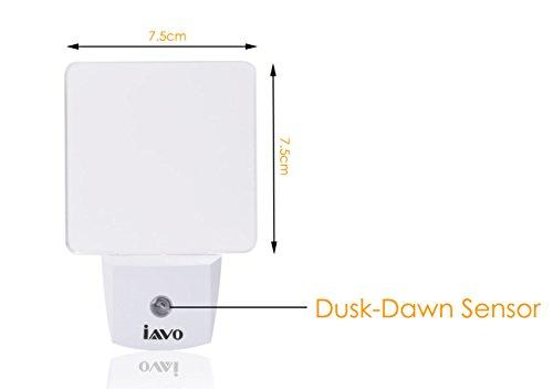 2 Pack: Auto ON/OFF Plug-In LED Night Light with Dusk to Dawn Sensor