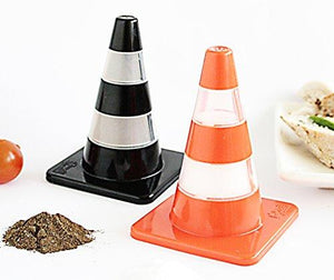 Labyrinth-BCN Traffic Cone Salt & Pepper Shakers Set. Kitchen Accessory. Salt and Pepper Shakers Perfectly Designed As Kitchen Gadgets