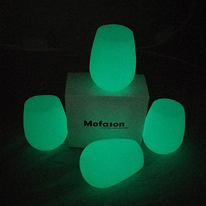 4 Pack: Silicone Glow-in-the-Dark Wine Glasses