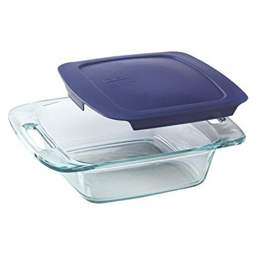 Pyrex Easy Grab 8-Piece Glass Bakeware and Food Storage Set