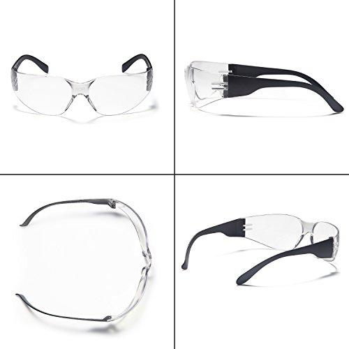 12-Pack: Impact and Ballistic Resistant Safety Protective Glasses with Clear Lenses