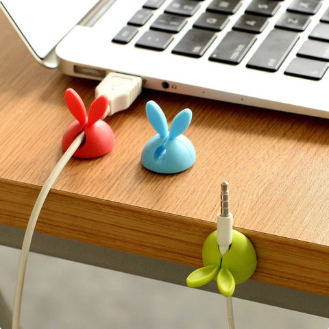 4Pcs Protector Management Device USB Cable Hang Winder Ear Shaped Cable Holder Phone Charging Accessories