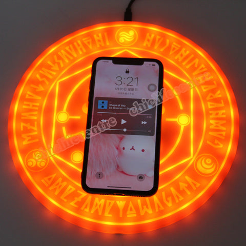 10W Qi Standard Glowing Magic Array Wireless Mobile Phone Charger Charging Pad