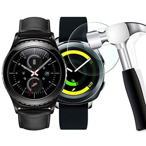 [2 Pack] Gear S2 Screen Protector, WIMAHA [Tempered Glass] Samsung Gear S2 Classic /Gear Sport Screen Protector [Easy-Install]
