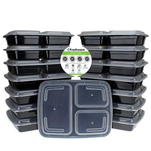 15 Pack: Freshware Meal Prep Containers